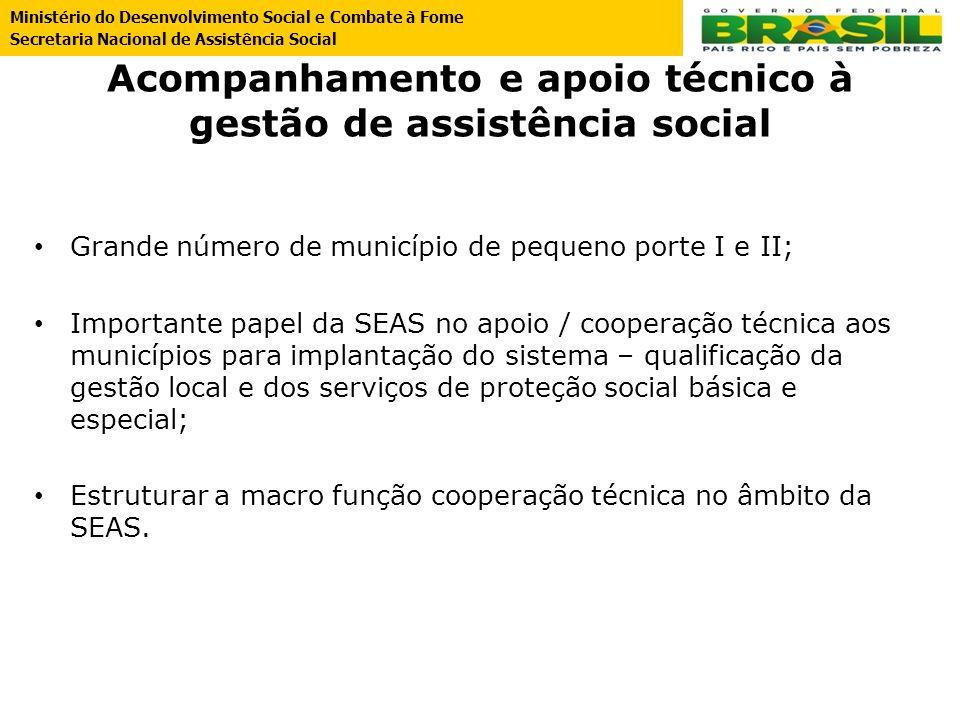 Acompanhamento e apoio técnico à gestão de assistência social