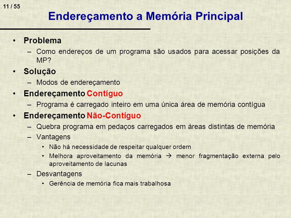 Endereçamento a Memória Principal