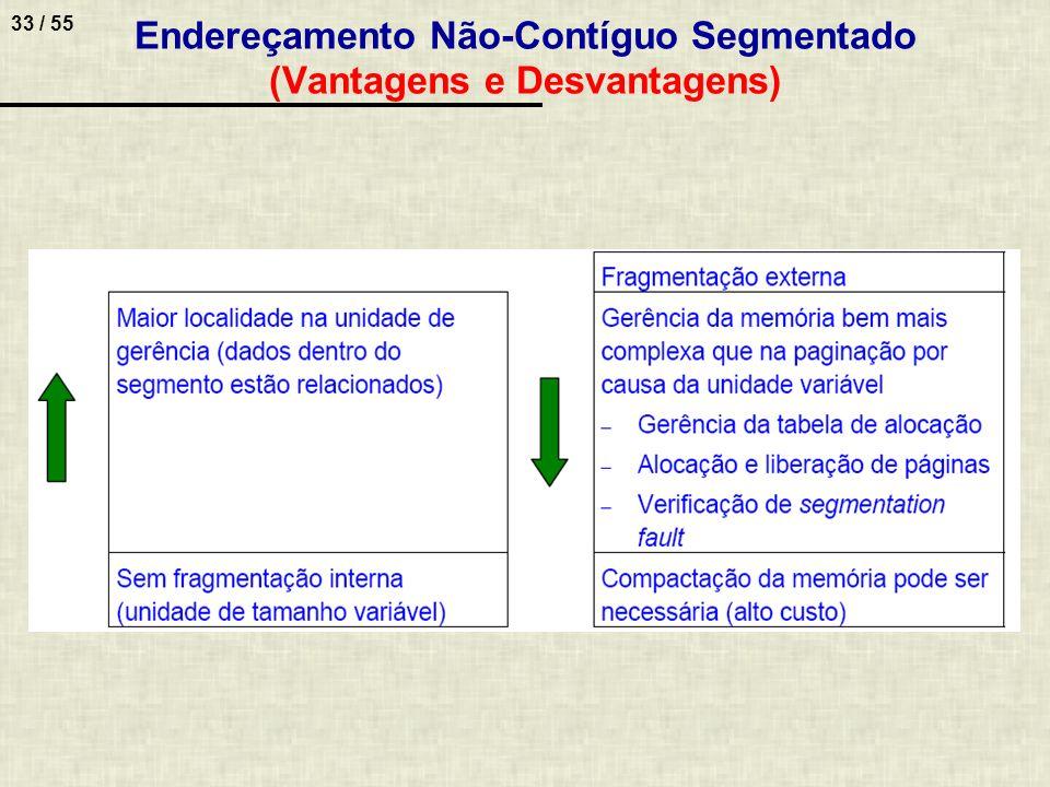 Endereçamento Não-Contíguo Segmentado (Vantagens e Desvantagens)