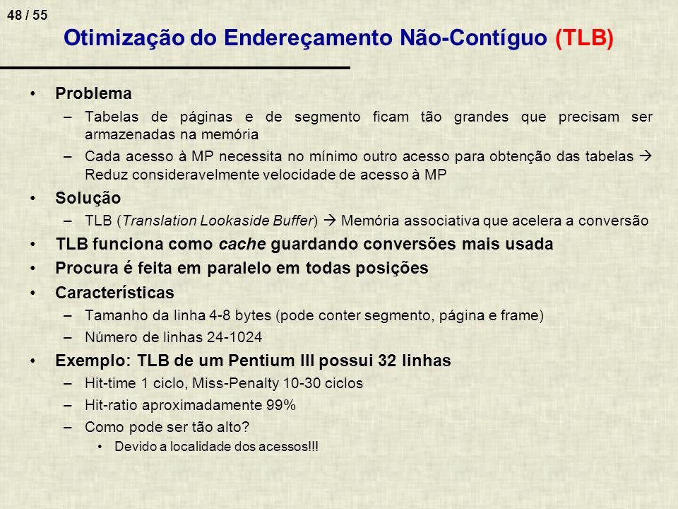 Otimização do Endereçamento Não-Contíguo (TLB)