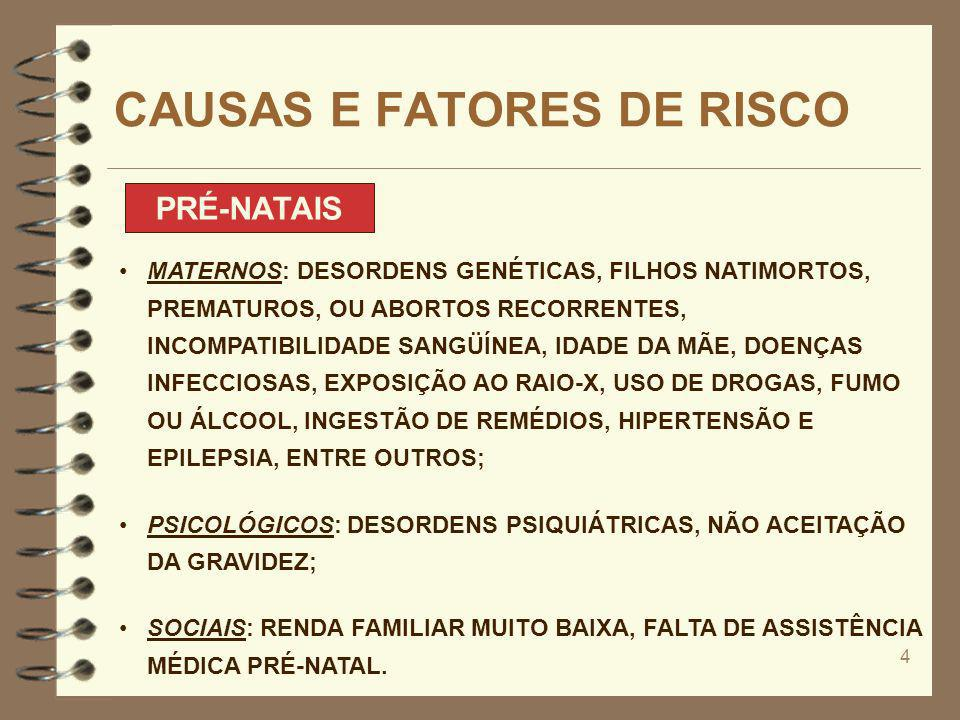 CAUSAS E FATORES DE RISCO