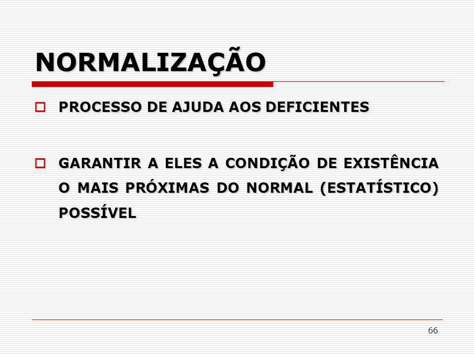 NORMALIZAÇÃO PROCESSO DE AJUDA AOS DEFICIENTES