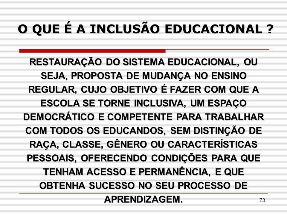 O QUE É A INCLUSÃO EDUCACIONAL