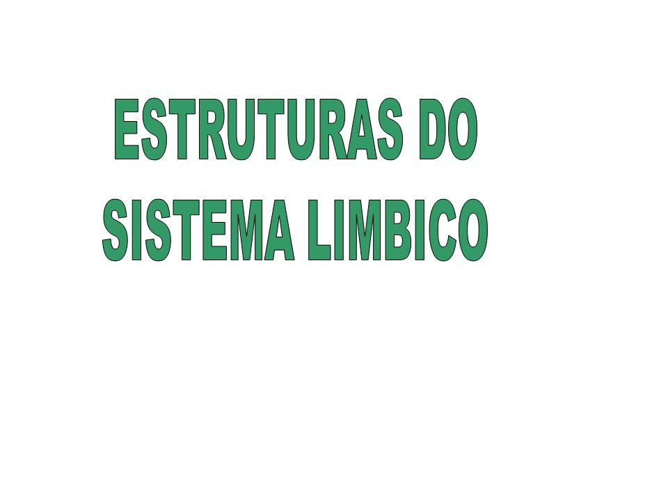 ESTRUTURAS DO SISTEMA LIMBICO