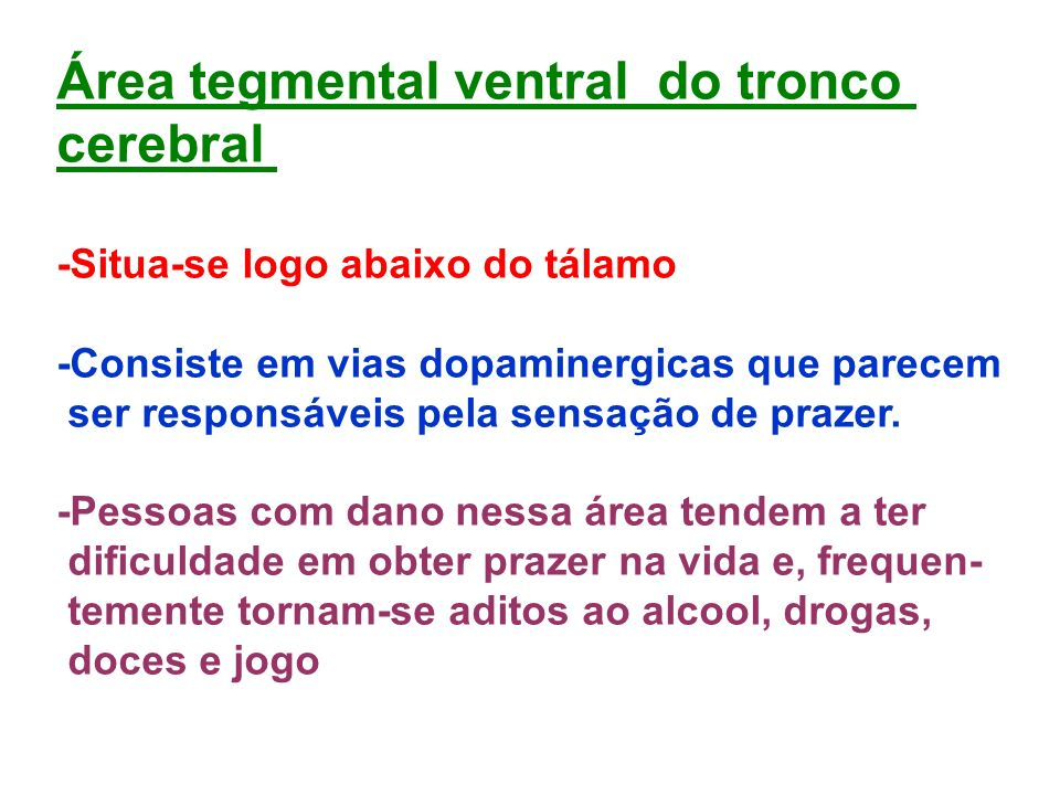 Área tegmental ventral do tronco cerebral
