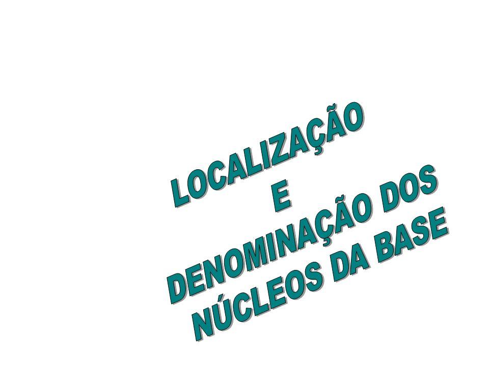 LOCALIZAÇÃO DENOMINAÇÃO DOS E NÚCLEOS DA BASE