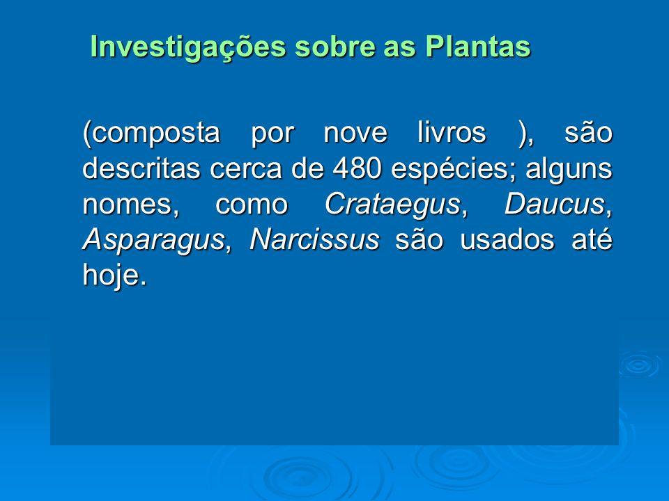 Investigações sobre as Plantas