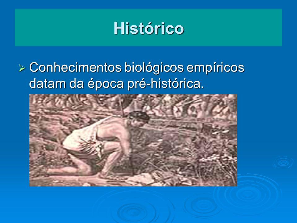 Histórico Conhecimentos biológicos empíricos datam da época pré-histórica.