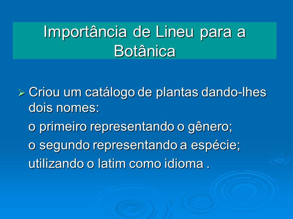 Importância de Lineu para a Botânica