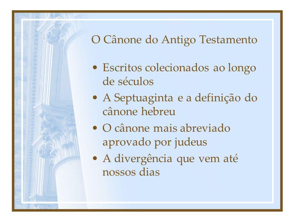 O Cânone do Antigo Testamento