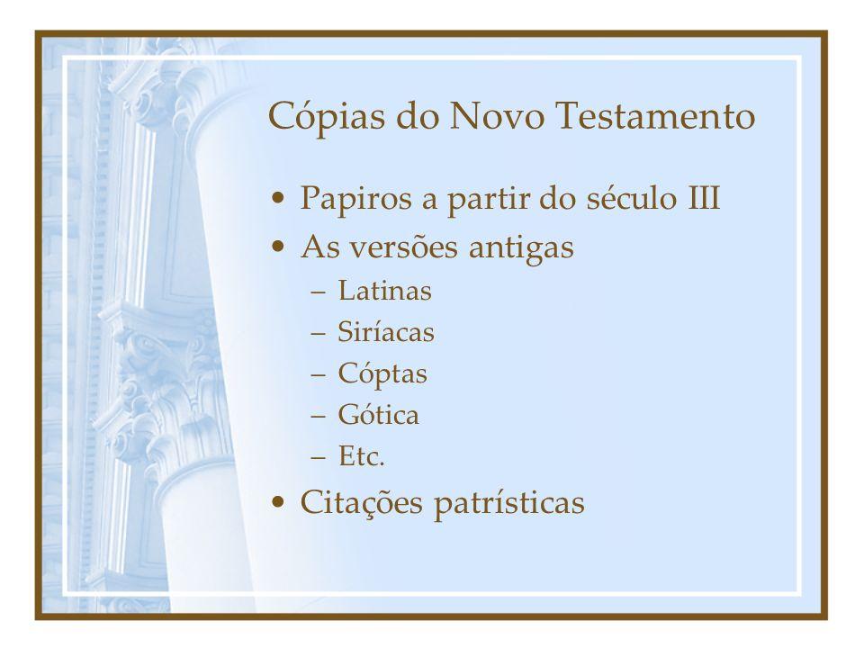 Cópias do Novo Testamento