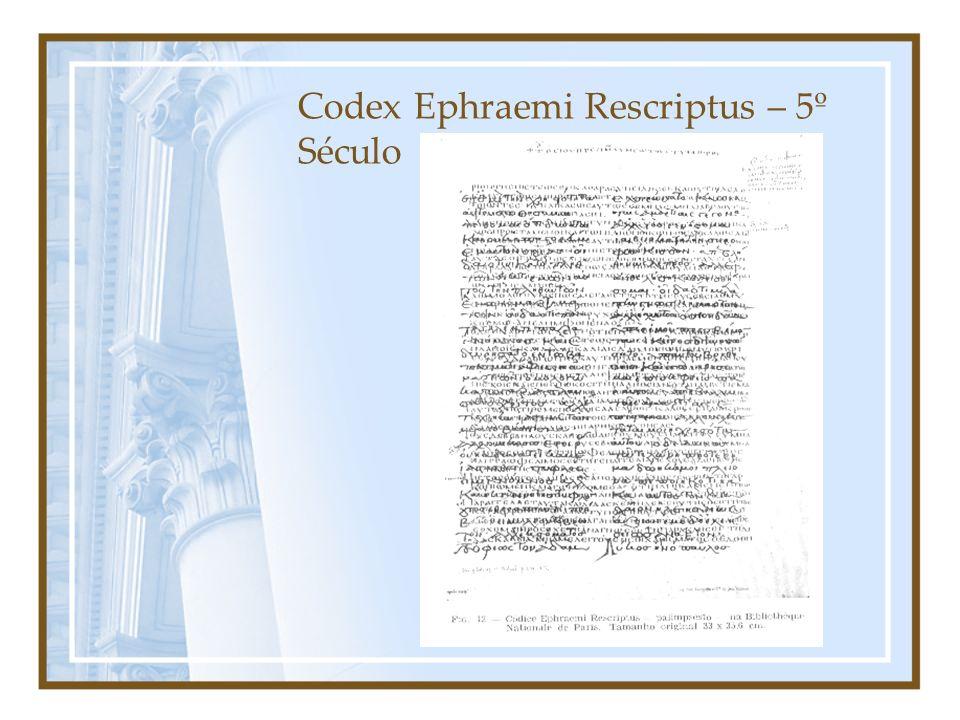 Codex Ephraemi Rescriptus – 5º Século
