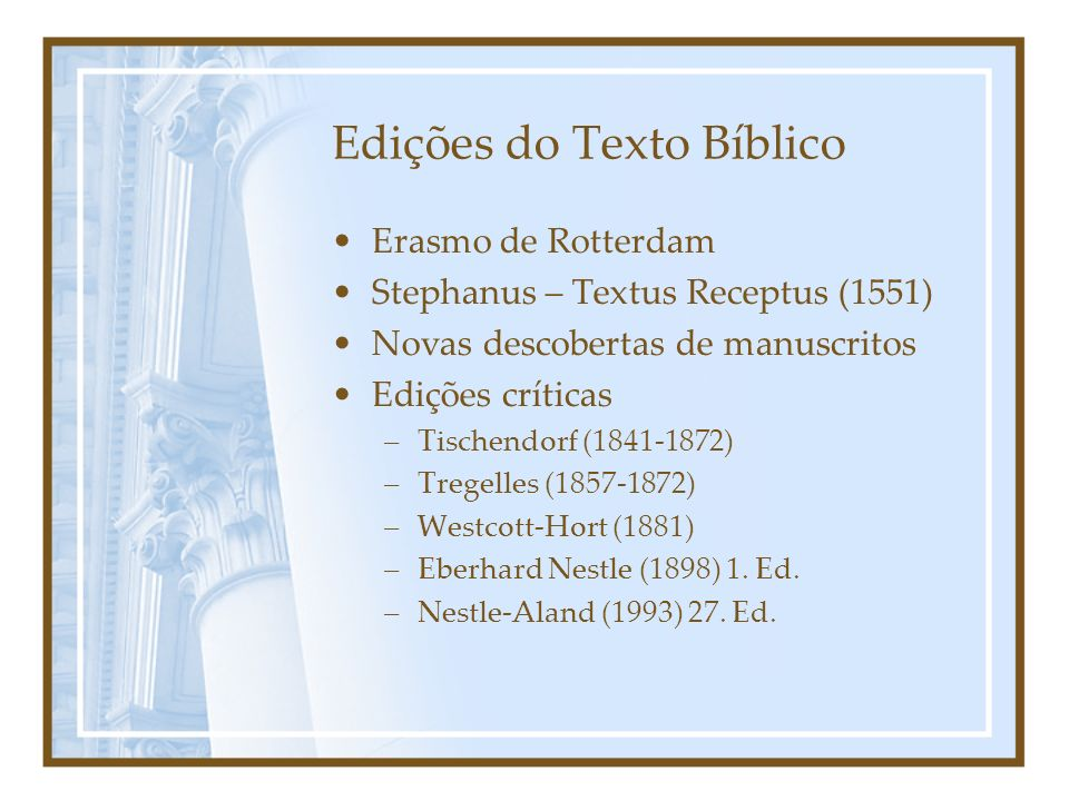 Edições do Texto Bíblico