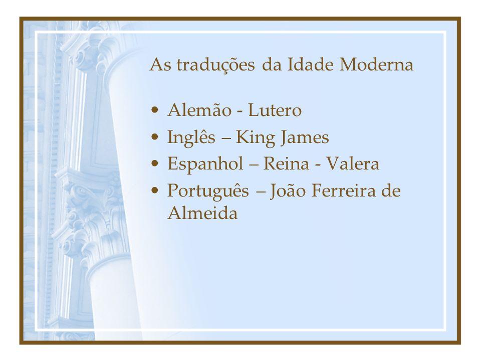 As traduções da Idade Moderna