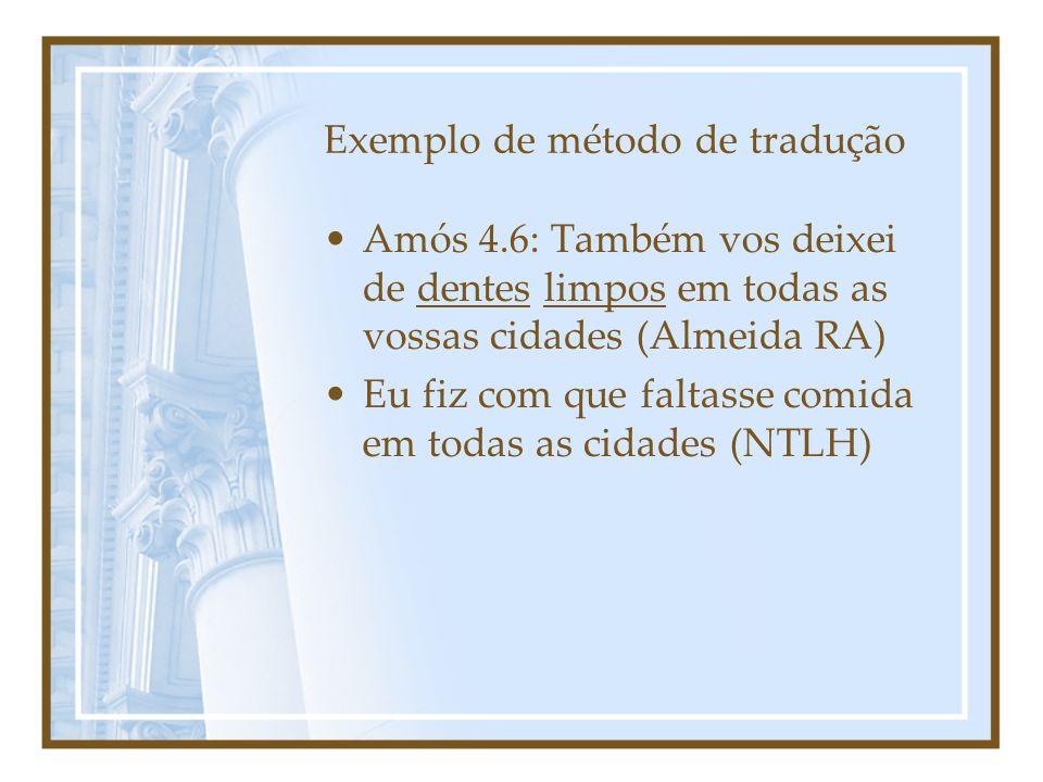 Exemplo de método de tradução