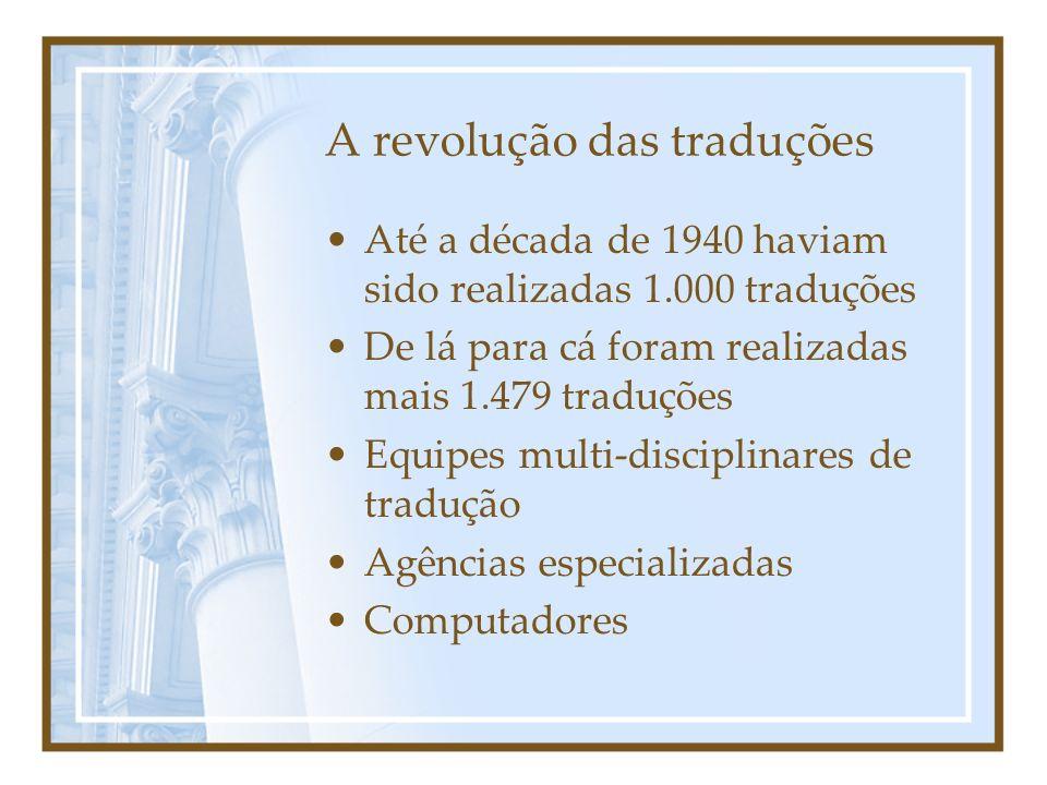 A revolução das traduções