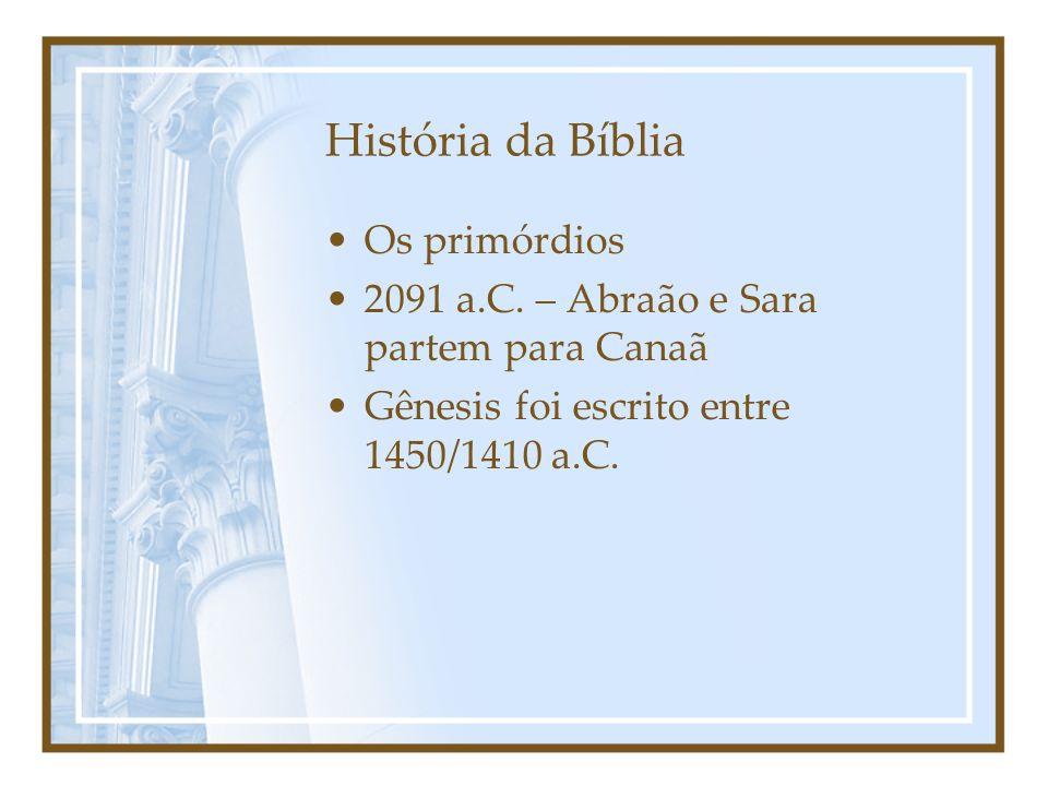 História da Bíblia Os primórdios
