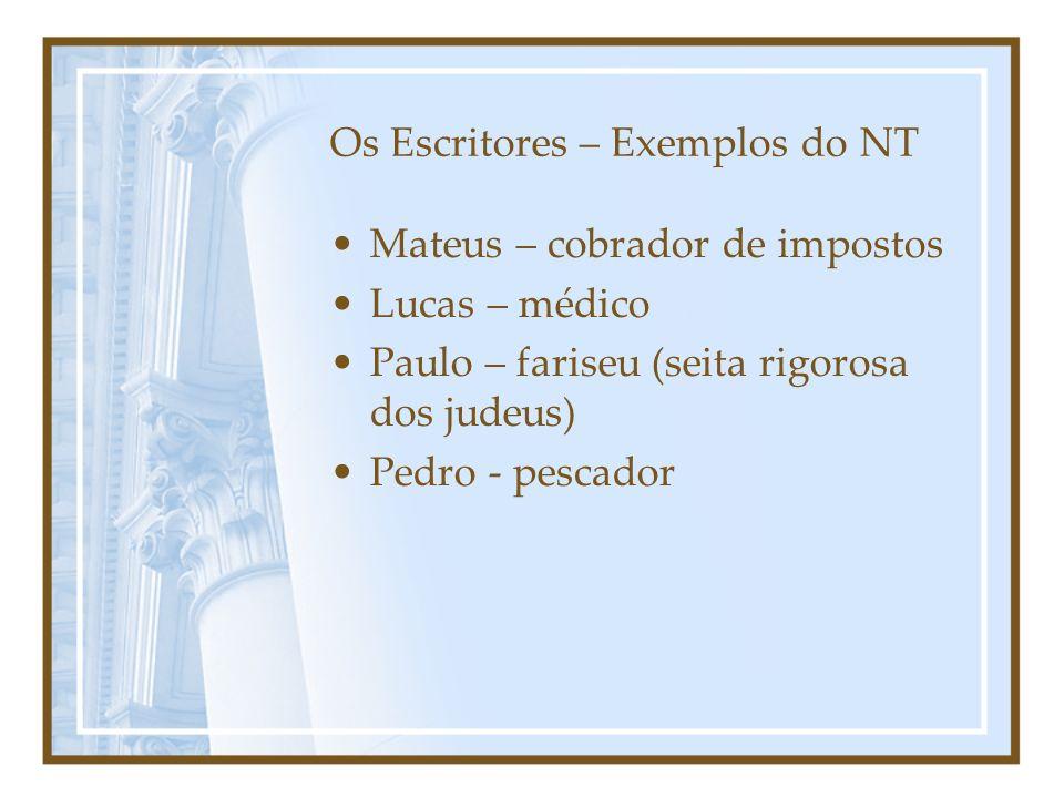 Os Escritores – Exemplos do NT