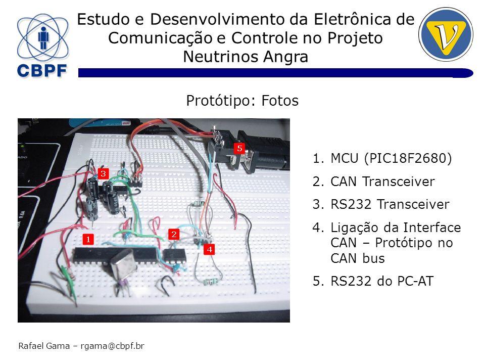 Protótipo: Fotos MCU (PIC18F2680) CAN Transceiver RS232 Transceiver