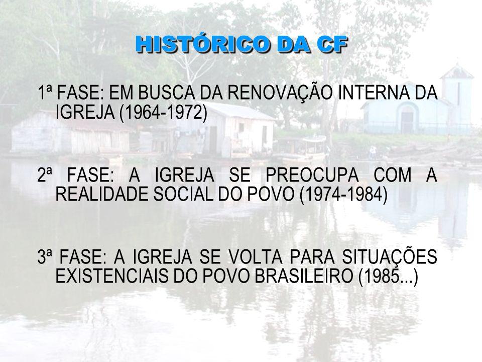 HISTÓRICO DA CF 1ª FASE: EM BUSCA DA RENOVAÇÃO INTERNA DA IGREJA (1964-1972)