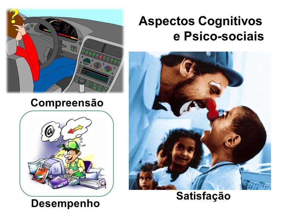 Aspectos Cognitivos e Psico-sociais Compreensão Satisfação Desempenho
