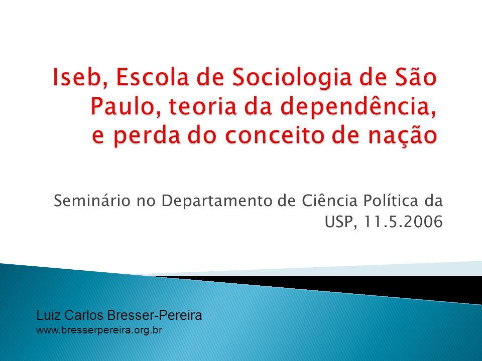 Seminário no Departamento de Ciência Política da USP, 11.5.2006