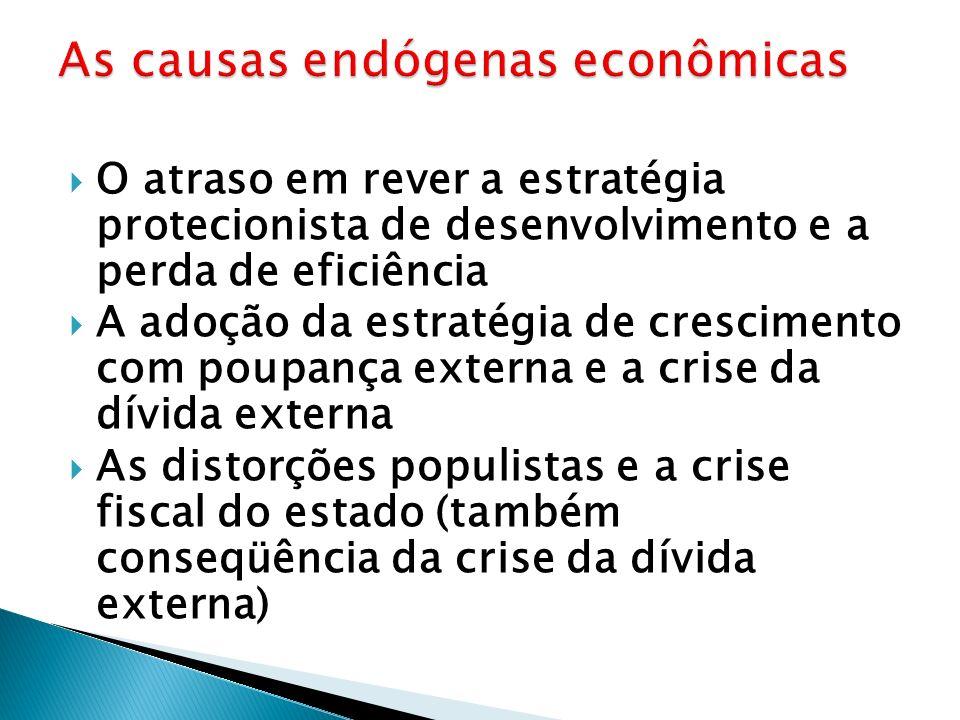 As causas endógenas econômicas