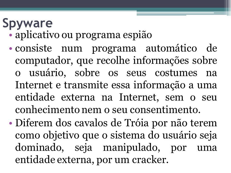 Spyware aplicativo ou programa espião
