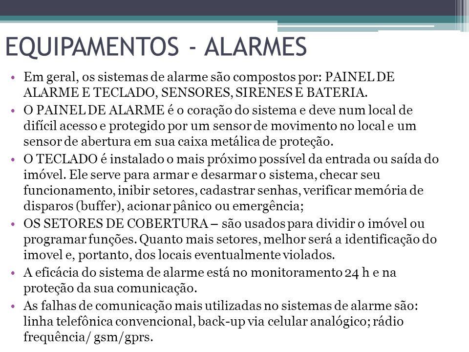 EQUIPAMENTOS - ALARMES