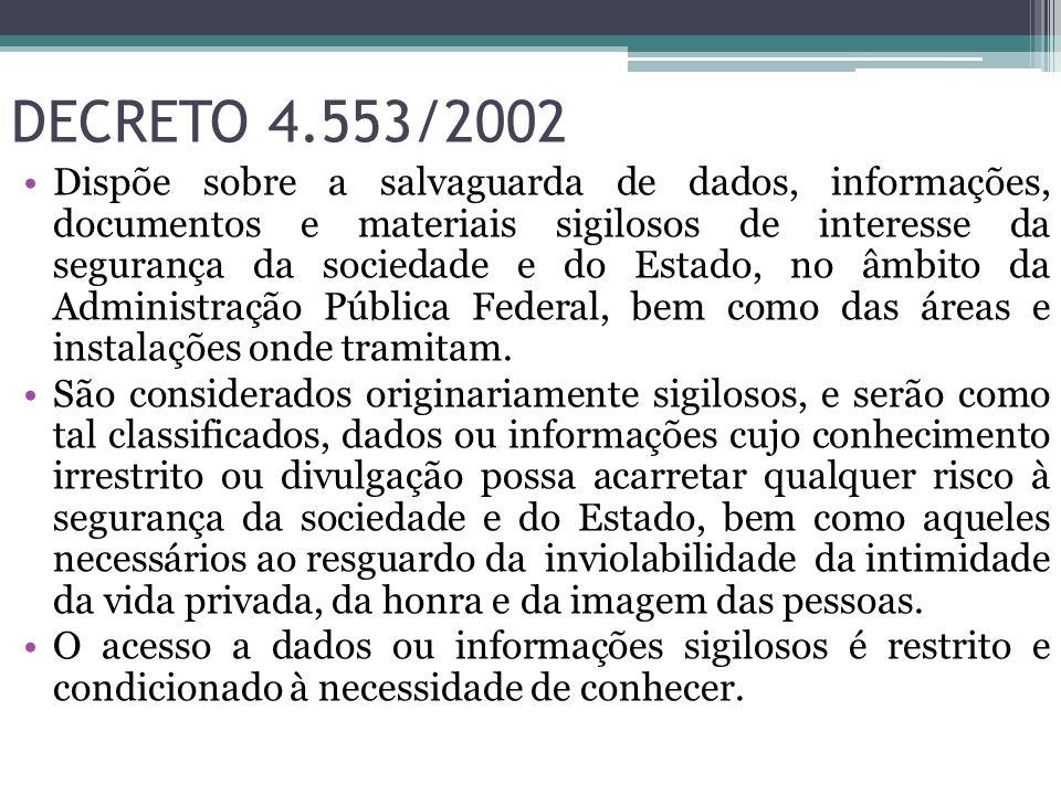 DECRETO 4.553/2002