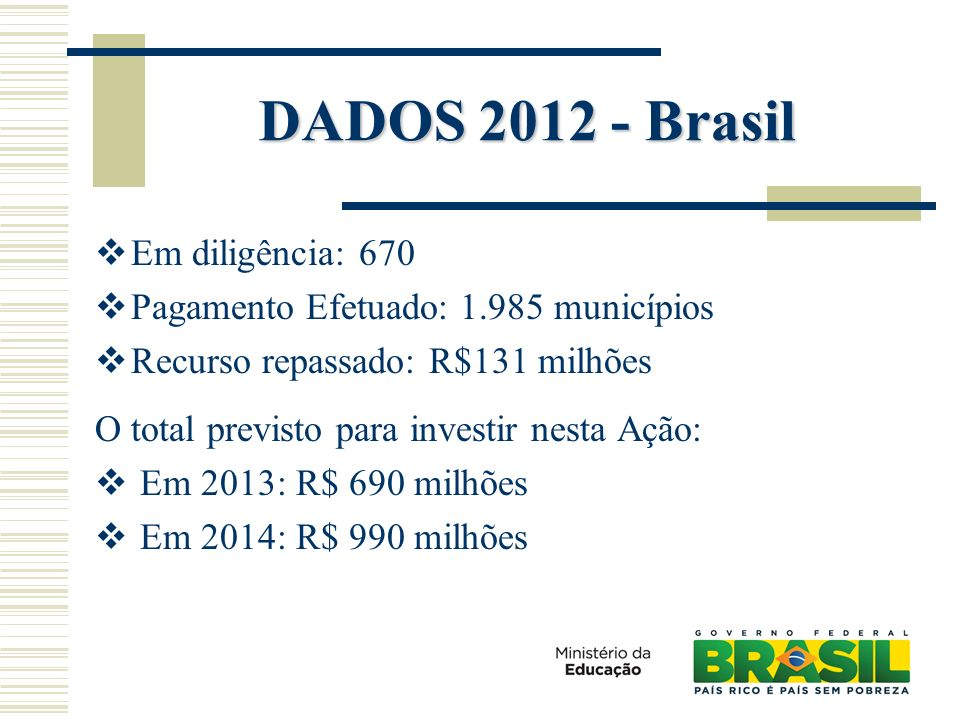 DADOS 2012 - Brasil Em diligência: 670