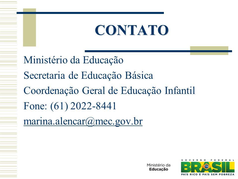 CONTATO Ministério da Educação Secretaria de Educação Básica