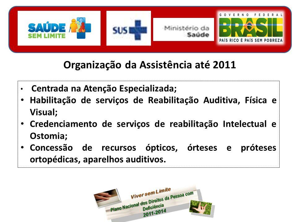 Organização da Assistência até 2011