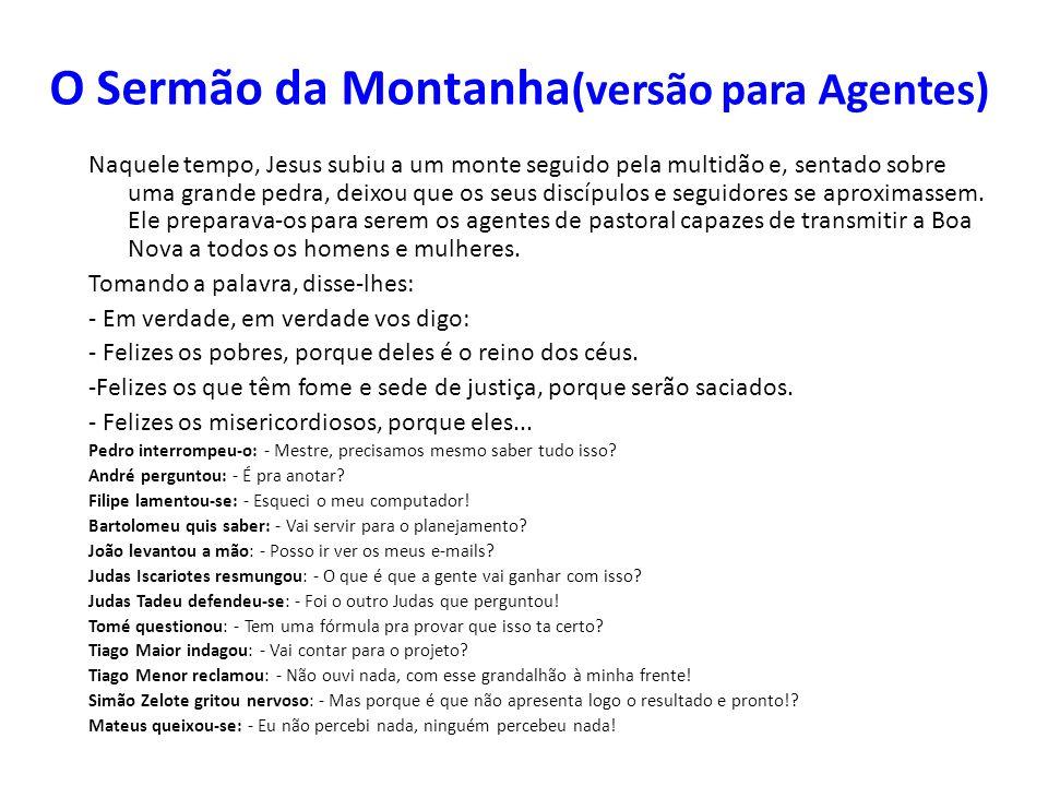 O Sermão da Montanha(versão para Agentes)