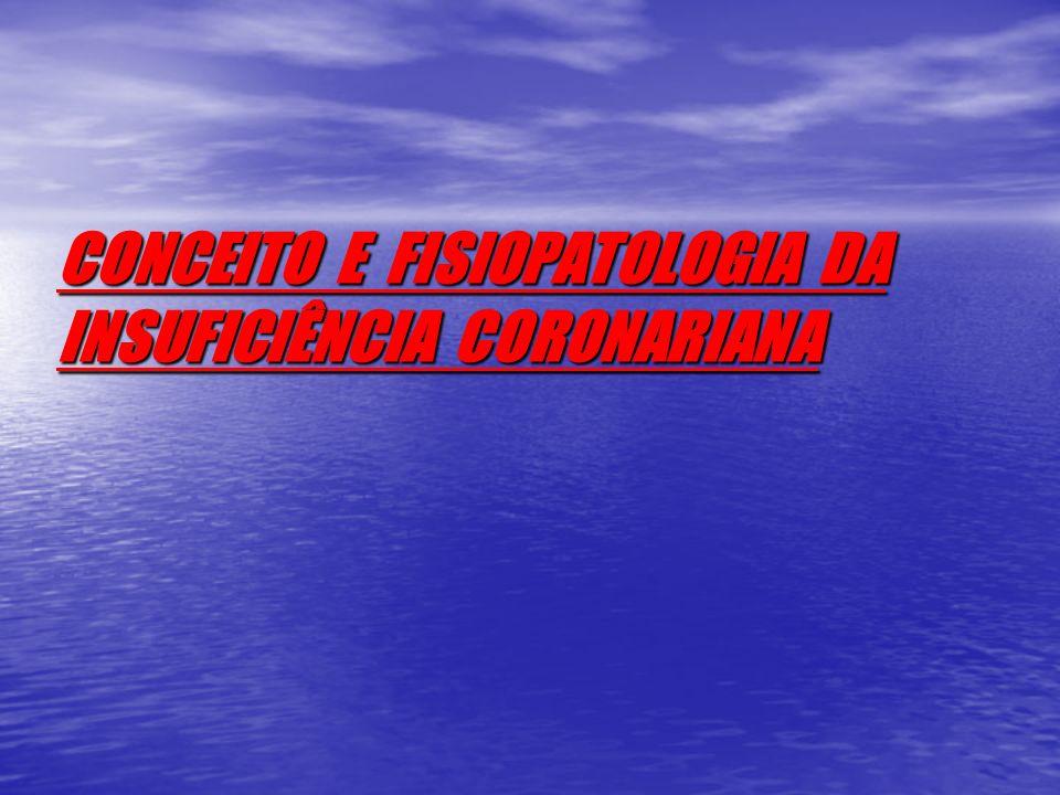CONCEITO E FISIOPATOLOGIA DA INSUFICIÊNCIA CORONARIANA