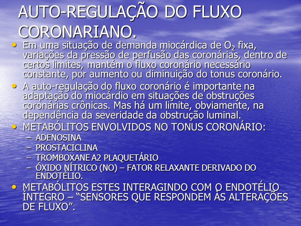 AUTO-REGULAÇÃO DO FLUXO CORONARIANO.