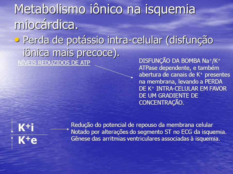 Metabolismo iônico na isquemia miocárdica.