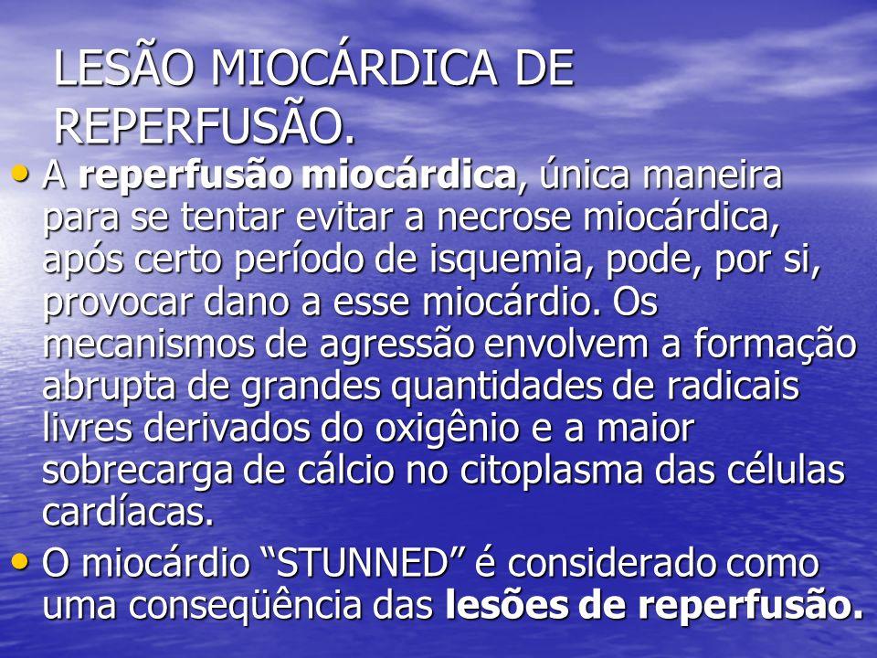 LESÃO MIOCÁRDICA DE REPERFUSÃO.