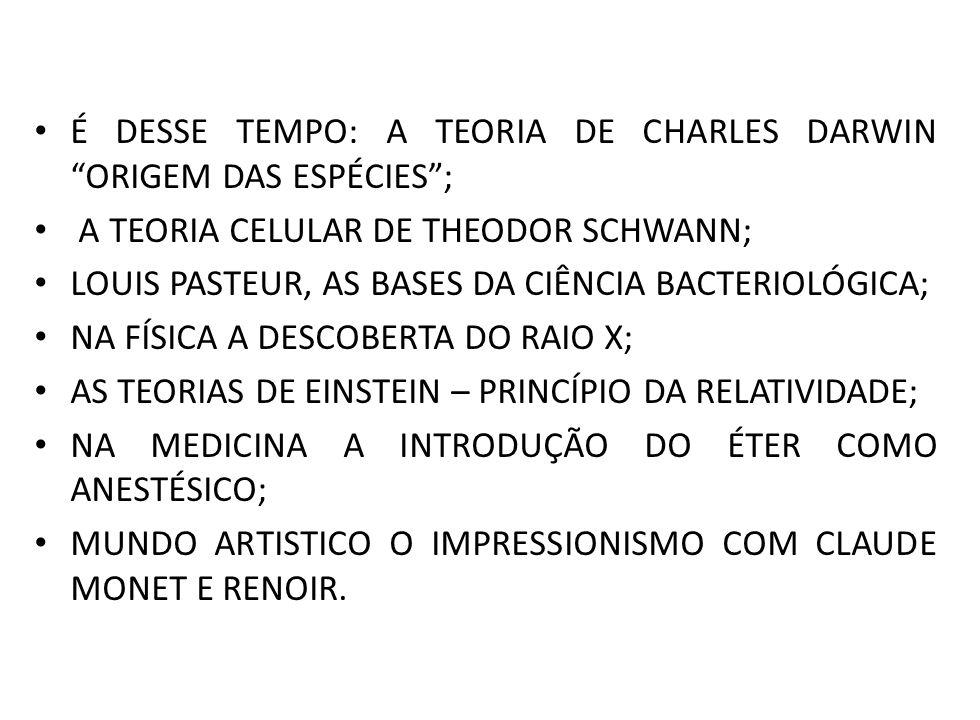 É DESSE TEMPO: A TEORIA DE CHARLES DARWIN ORIGEM DAS ESPÉCIES ;