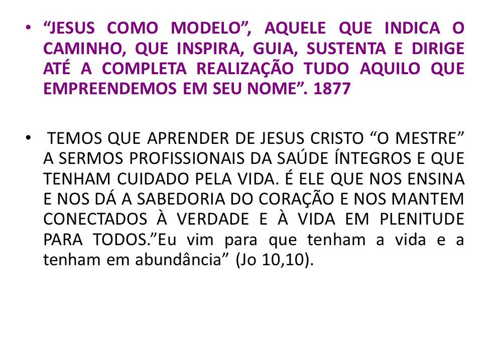 JESUS COMO MODELO , AQUELE QUE INDICA O CAMINHO, QUE INSPIRA, GUIA, SUSTENTA E DIRIGE ATÉ A COMPLETA REALIZAÇÃO TUDO AQUILO QUE EMPREENDEMOS EM SEU NOME . 1877