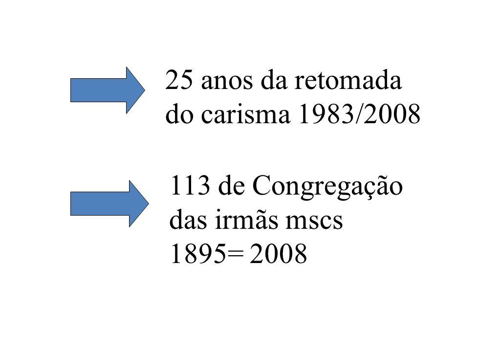 25 anos da retomada do carisma 1983/2008