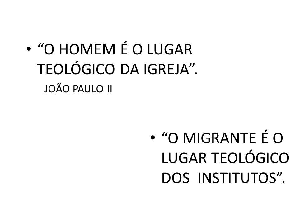 O HOMEM É O LUGAR TEOLÓGICO DA IGREJA .
