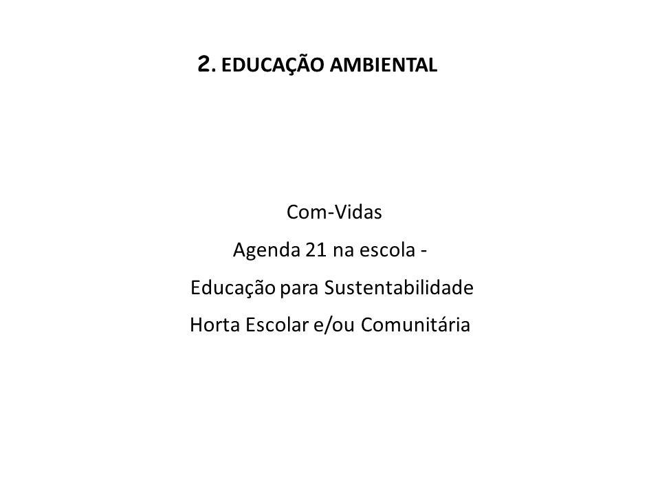 Educação para Sustentabilidade Horta Escolar e/ou Comunitária