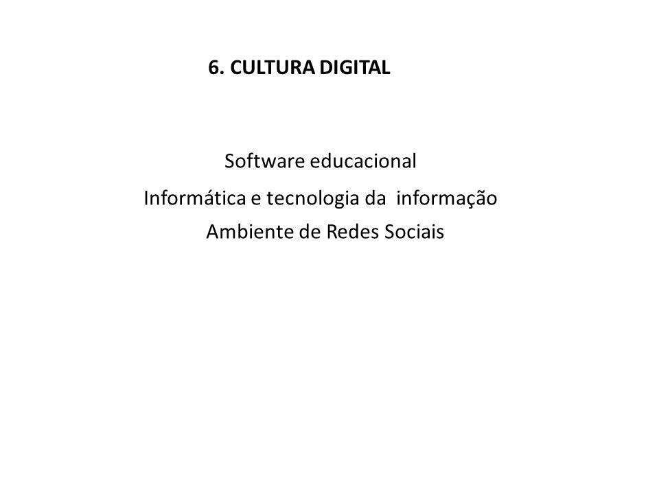 Informática e tecnologia da informação Ambiente de Redes Sociais