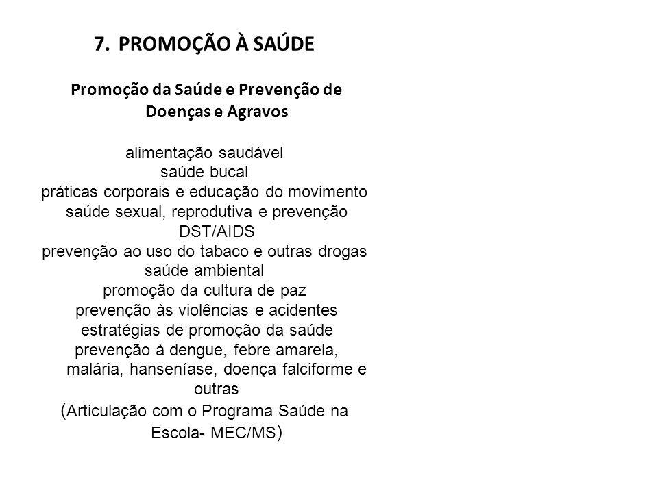 Promoção da Saúde e Prevenção de Doenças e Agravos