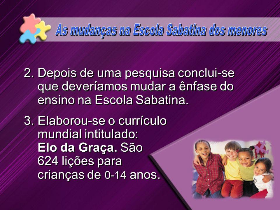 As mudanças na Escola Sabatina dos menores