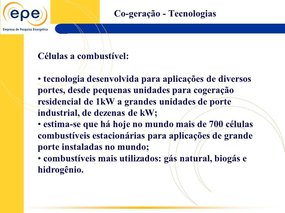 Co-geração - Tecnologias