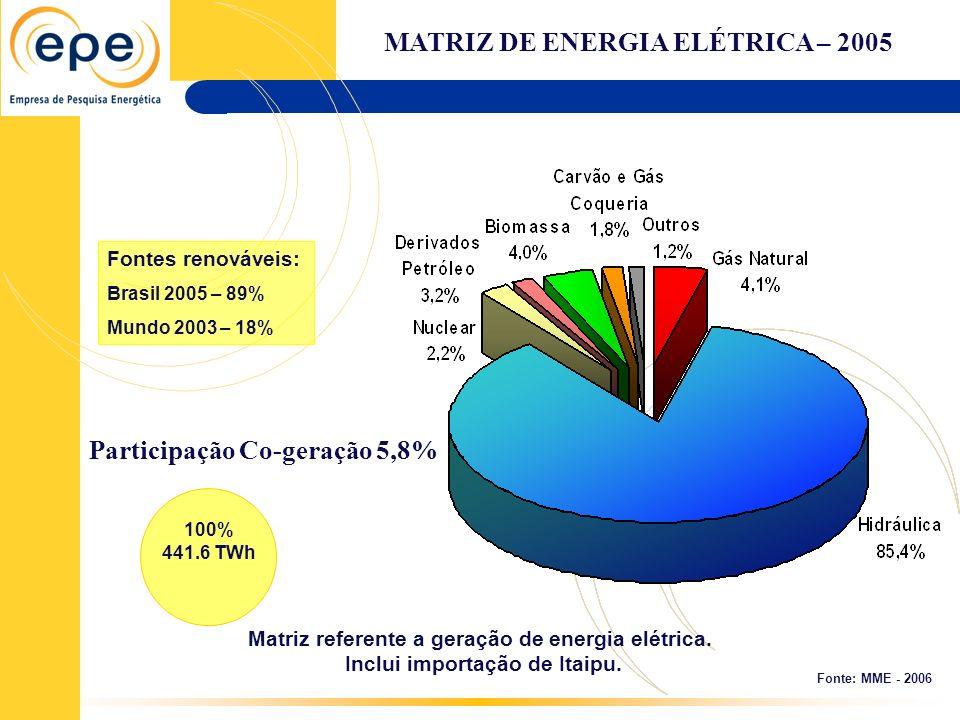 MATRIZ DE ENERGIA ELÉTRICA – 2005