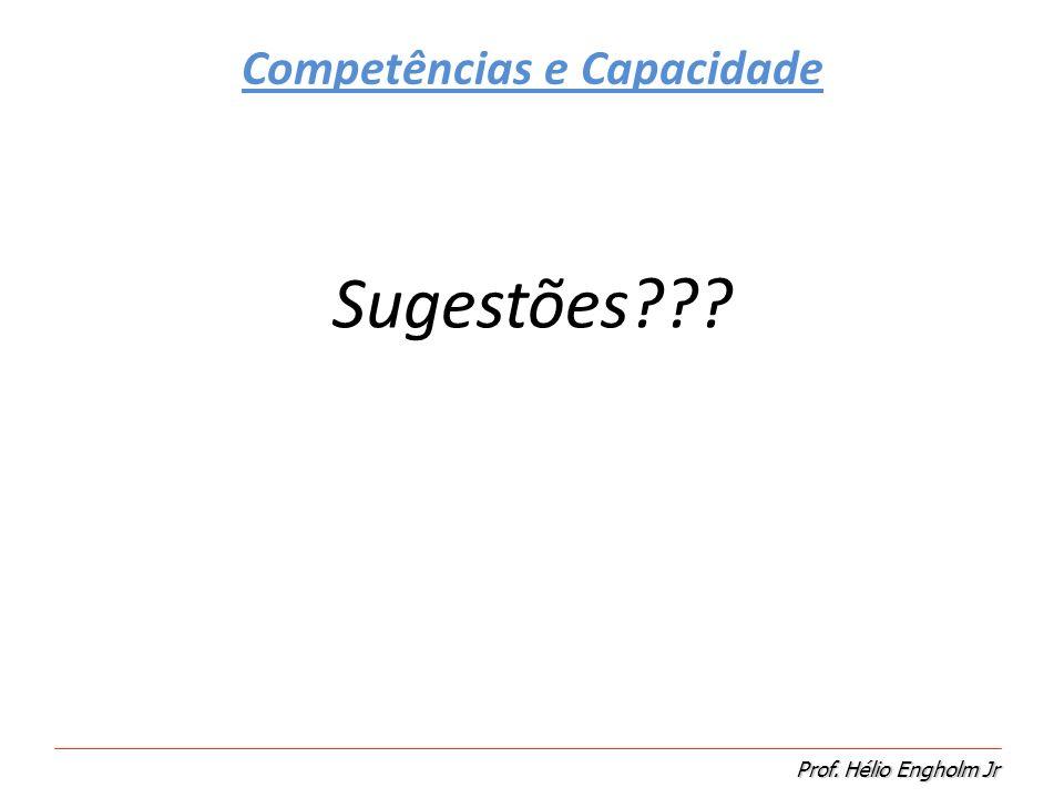 Competências e Capacidade