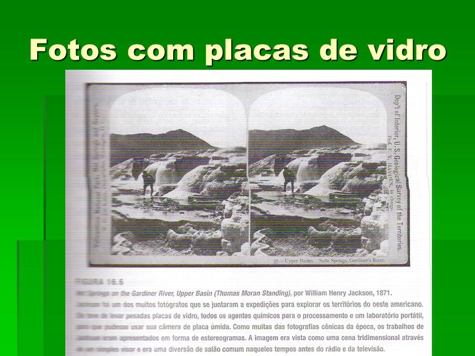 Fotos com placas de vidro